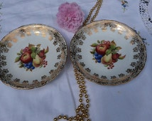 A pair of Vintage Windsor Bone China saucers, circa 1950's.