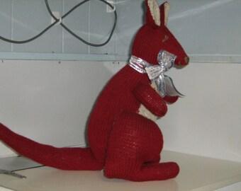 Knitted Australian Red Kangaroo