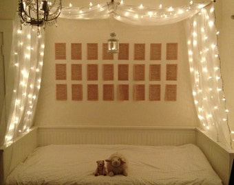 White Decorative Bed Canopy