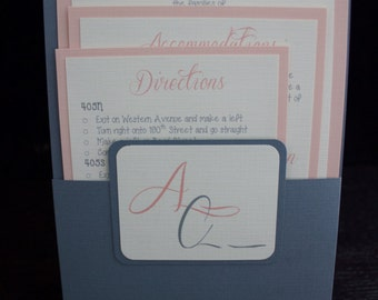 Blush Wedding Invitation Suite- Pocket Folder!