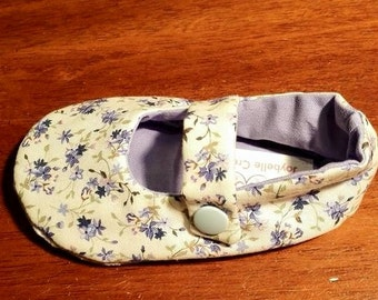 Floral Mary Jane Toddler Shoes Size 12-18mths