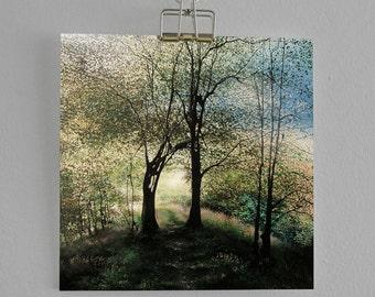 The Kiss - Fine Art card - Tree card - Woodland