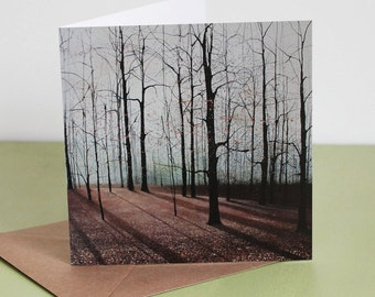 Through the Woods We Ran - Fine Art card - Trees - Woodland