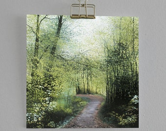The Stirring - Fine Art card - Trees - Woodland