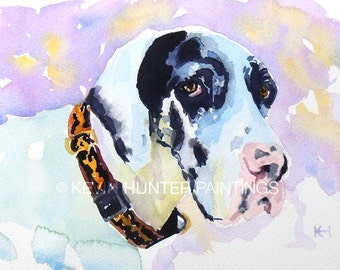 Custom Dog Portrait in Watercolor by Kevin Hunter