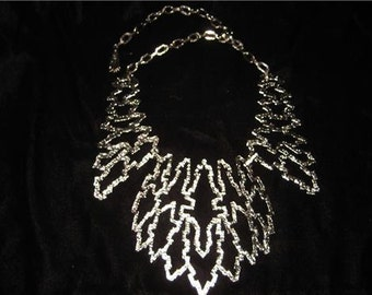 EGYPTIAN Vintage > Huge SILVER COLLAR Necklace, Very Different, Bold Statement Piece