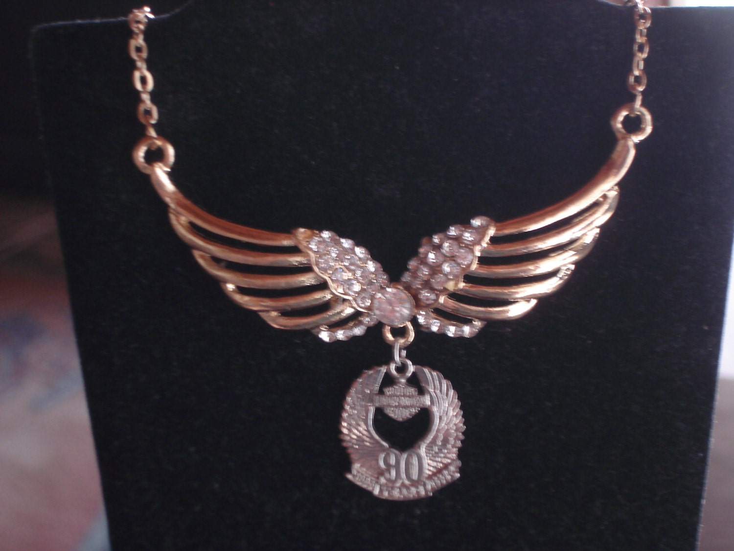 sale harley davidson 90th anniversary wing necklace