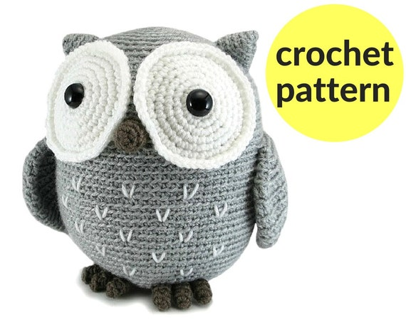 Free Owl Stuffed Cuddly Crochet Pattern : Large owl amigurumi pattern crochet owl pattern large