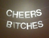 "Glitter Party Banner - ""Cheers Bitches"""