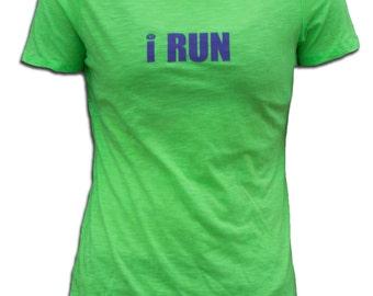 Run...For Myself Neon Green T-Shirt