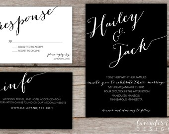 Custom - Wedding Invitation - Two Color Option