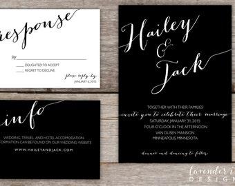 Custom - Wedding Invitation - Two Color Option