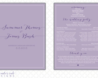 Custom - Wedding Program