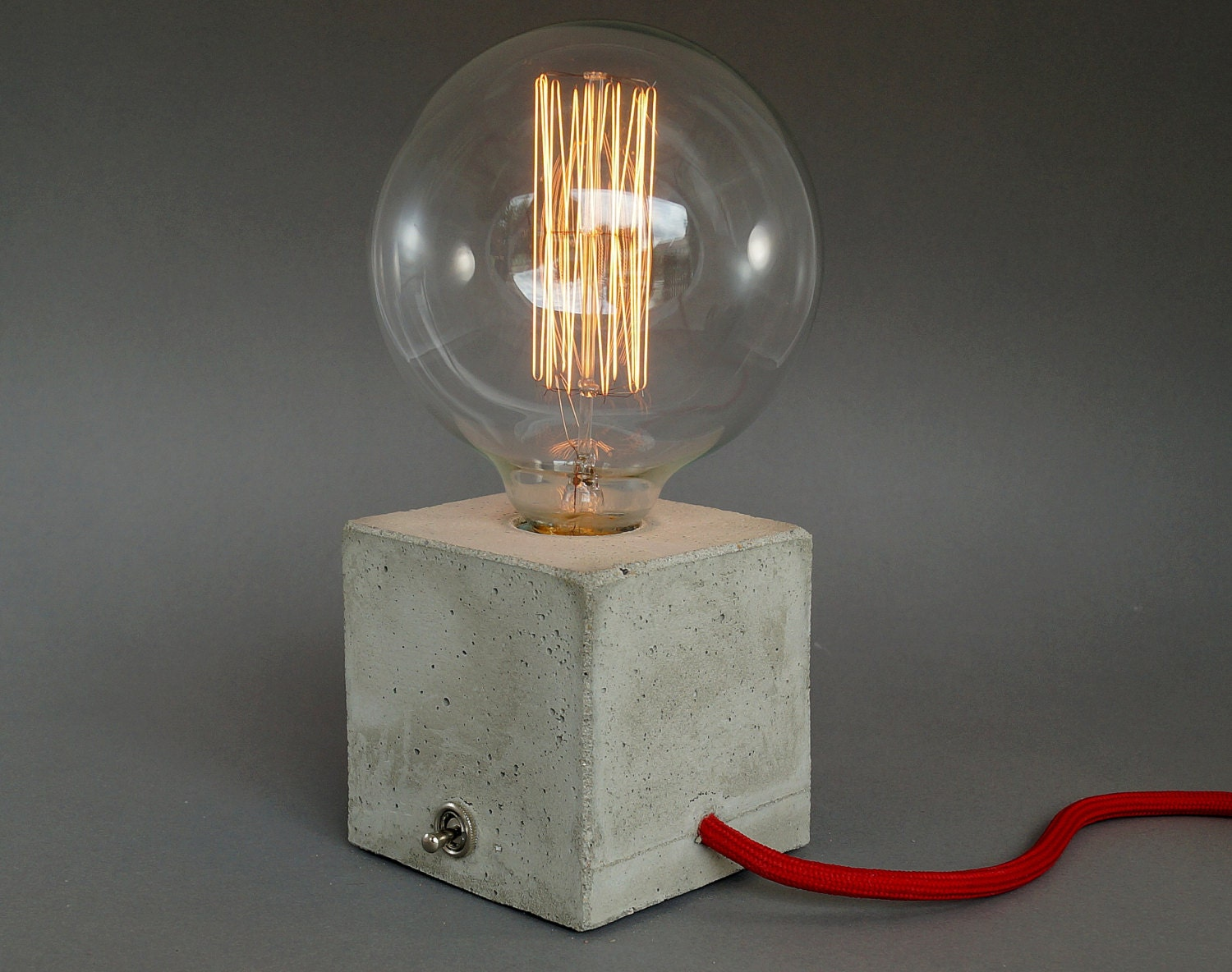 Concrete lamp table lamp bedside lamp cubo for Nachttischlampe vintage