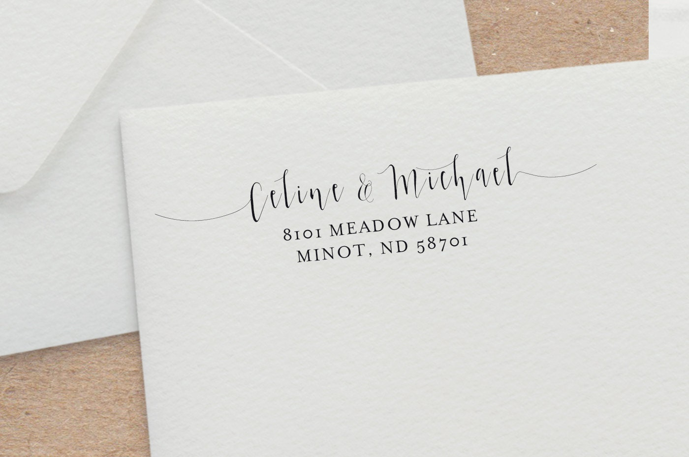 Modern Calligraphy Address Stamp Wedding Invitation Stamp