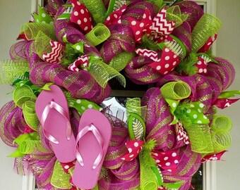 Summer FlipFlop Wreath
