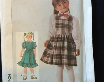 Simplicity 7727 Easy Sew Girls Jumper and Blouse