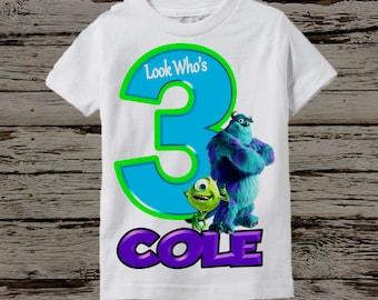 Monsters Inc Birthday Shirt - Monsters University Shirt