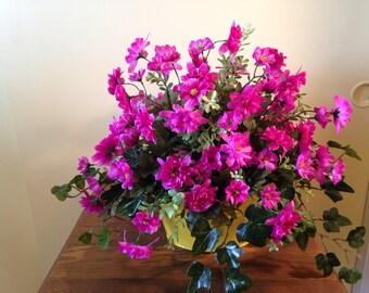 Pink Sweetheart Rose Silk Flower Arrangement