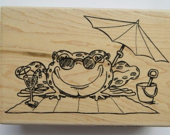 Funstamps 'Another Sunny Day' rubber stamp