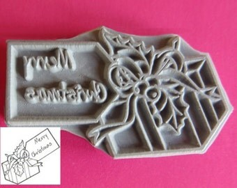 Christmas gift unmounted rubber stamp