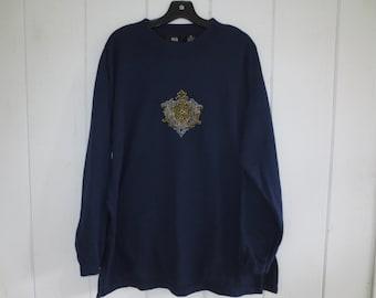 Pasta Sweatshirt/sweater with beaded applique