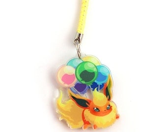 Doublesided 1.5 Inch Flareon Charm