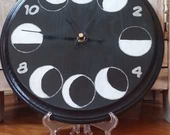 Glow in the Dark Phases of the Moon Clock