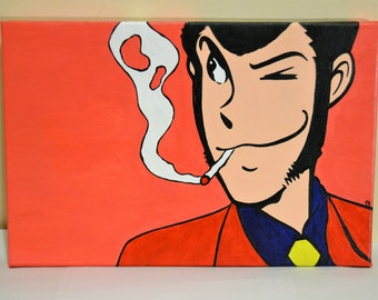 Lupin Panel 20 x 30 cm hand-painted.