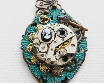 Turquoise Steampunk Charm
