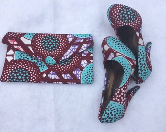 Ankara Shoes and Clutch Bags  Set In U S