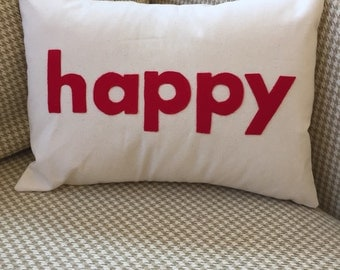 Because I'm Happy pillow