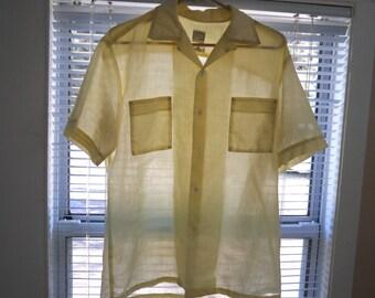 20% OFF Harris & Frank California See-Through Loop Collar Shirt