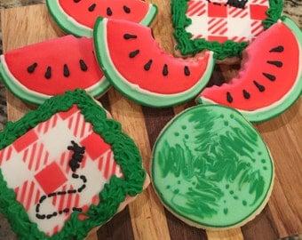 1 doz Watermelon Picnic Sugar Cookies
