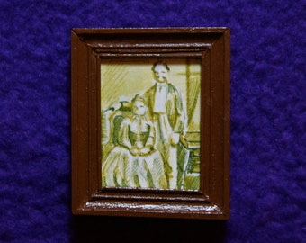 Miniature Portrait of Man and Woman