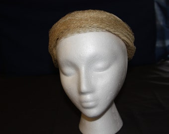 Vintage Pillbox Hat Cream