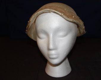 Vintage Cream PIllbox hat