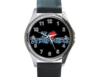 I Love Strippers   Round Metal funny Watch