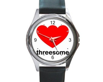 Threesome Logo    Round Metal Watch