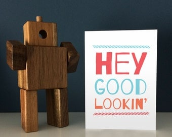 Funny Pregnancy Reveal Card for Husband / Partner / Boyfriend - Hey Good Lookin' We've Got a BABY Cookin'