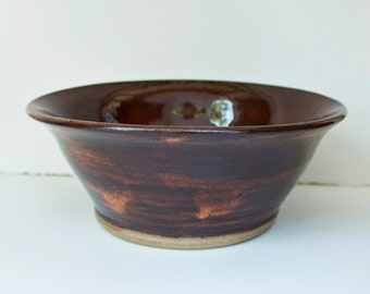 Albany Brown Serving Bowl- Stoneware Pottery- Large Bowl