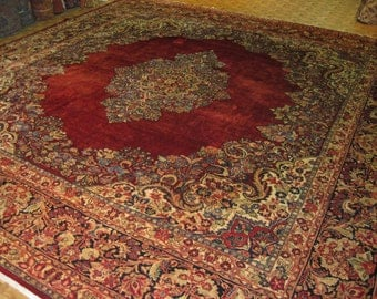 Squre size antique Persian Sarouk Rug. 4121