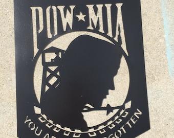 POW MIA Metal Art