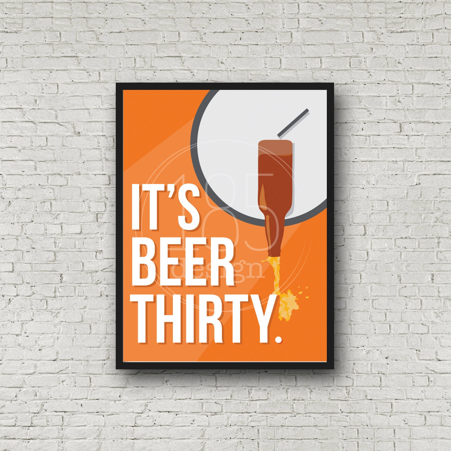 Beer Art Print It's Beer Thirty Wall Decor Digital