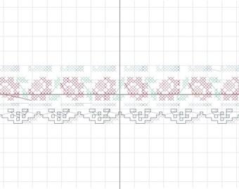 set 4 x patterns dishcloths