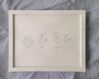 Basta Pasta (original ink drawing available unframed)