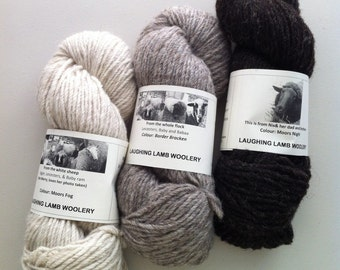 100% Natural Wool yarns