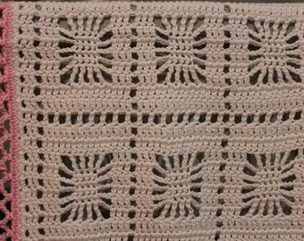 Open Weave Blanket Etsy