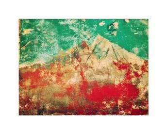 High Desert.  Monotype, hand pulled, abstract,  landscape, original art. OOAK.