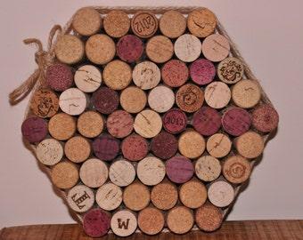Hand-made Cork Trivet